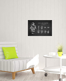 """iCanvas """"Lego Dark Patent Blueprint"""" by Aged Pixel Gallery-Wrapped Canvas Print (26 x 40 x 0.75)"""