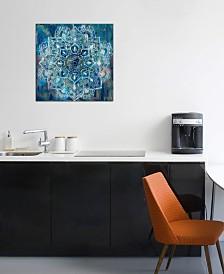 "iCanvas ""Mandala in Blue II"" by Danhui Nai Gallery-Wrapped Canvas Print (18 x 18 x 0.75)"