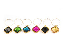 Thirstystone Radiant Jewel Wine Charms Set of 6