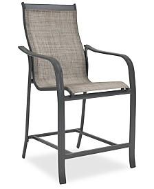 Reyna Aluminum Outdoor Bar Chair, Created For Macy's