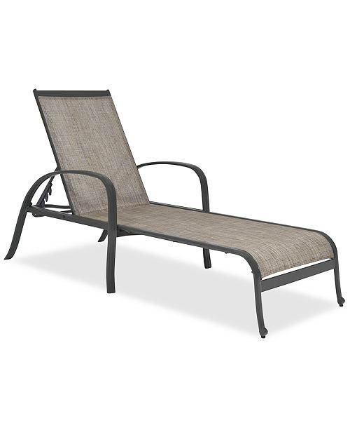 Furniture CLOSEOUT! Reyna Aluminum Outdoor Chaise Lounge, Created for Macy's