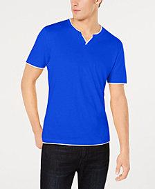 I.N.C. Men's Split-Neck T-Shirt, Created for Macy's