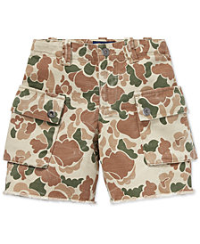 Polo Ralph Lauren Toddler Boys Relaxed Cotton Camo Cargo Shorts