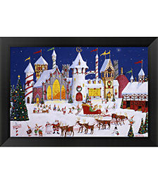 Santa's North Pole by Joseph Holodook Framed Art