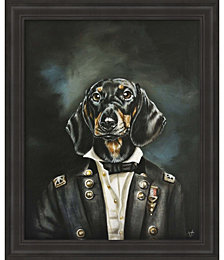 Distinguished Dachshund by Victoria Coleman Framed Art