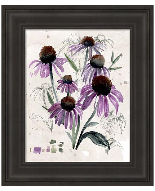 Metaverse Purple Wildflowers II by Jennifer Parker Framed Art