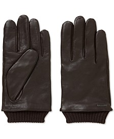 BOSS Men's Touchscreen Leather Gloves