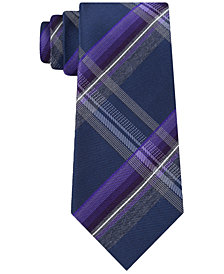 Kenneth Cole Reaction Men's Vermont Plaid Slim Tie