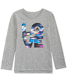 adidas Little Girls Long-Sleeve Love T-Shirt