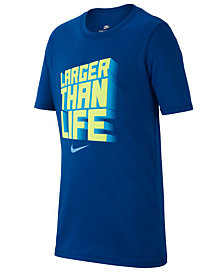 Nike Big Boys Life-Print Cotton T-Shirt