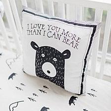 Little Black Bear Throw Pillow 14x14