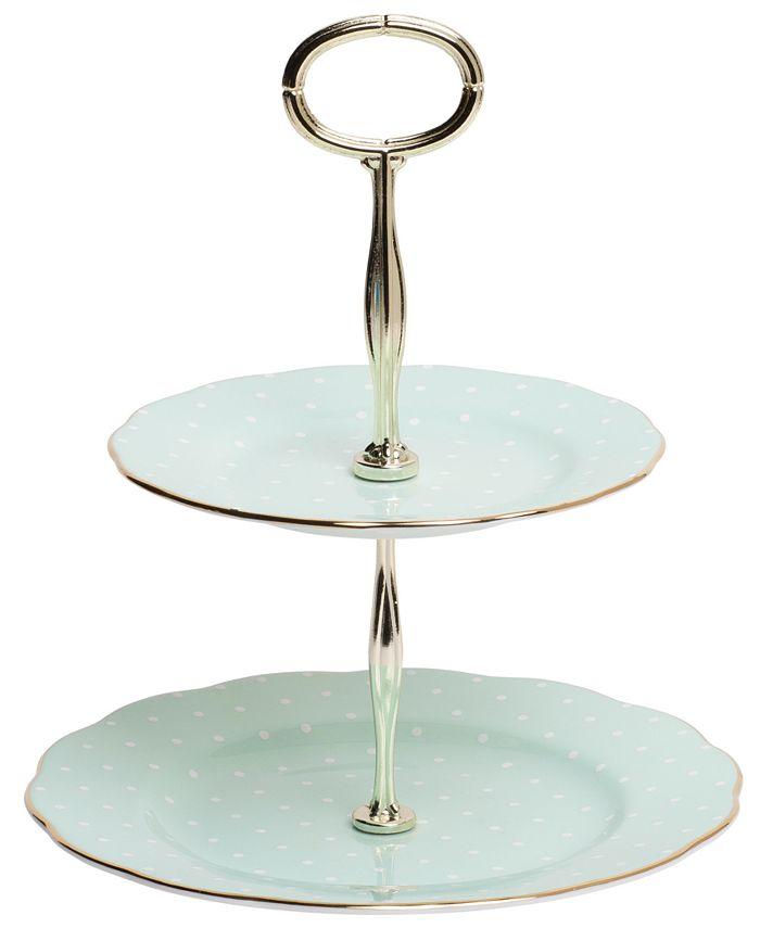 Royal Albert - Polka Rose 2-Tier Cake Plate