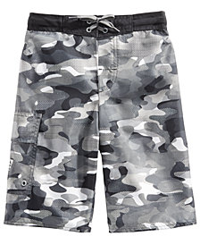 Laguna Big Boys Digital Camo-Print Swim Trunks