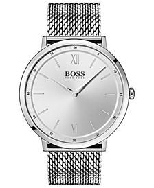 Hugo Boss Men's Essential Ultra Slim Stainless Steel Mesh Bracelet Watch 40mm