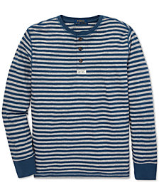 Polo Ralph Lauren Big Boys Striped Cotton Mesh Henley
