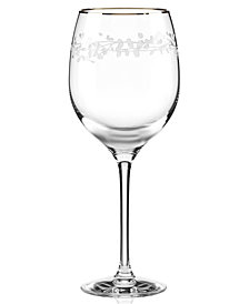 kate spade new york Gardner Street Platinum Signature  Iced Beverage Glass