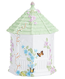 Lenox Dinnerware, Butterfly Meadow Figural Gazebo Cookie Jar