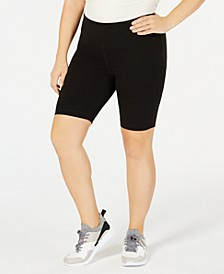 Plus Size Compression Cycling Shorts, Created for Macy's
