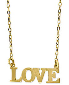 """Love 18"""" Pendant Necklace in 14k Gold"""