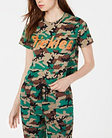 Cotton Logo Camouflage-Print T-Shirt