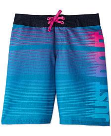 "Nike Big Boys JDI Drift 9"" Striped Swim Trunks"