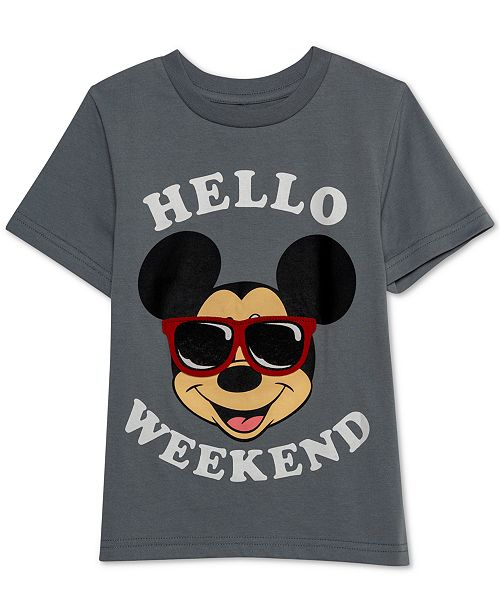 318844c2f ... Disney Little Boys Mickey Mouse Hello Weekend Graphic T-Shirt ...