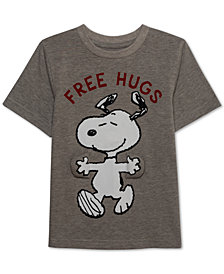 Peanuts Little Boys Free Hugs Snoopy Graphic T-Shirt