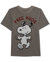 06adc6ac0 Peanuts Little Boys Free Hugs Snoopy Graphic T-Shirt