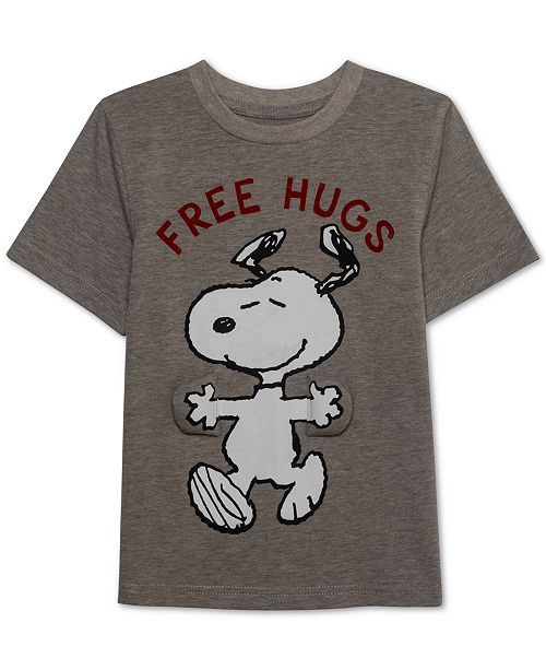 Jem Peanuts Toddler Boys Free Hugs Snoopy Graphic T-Shirt - Shirts ... 8391c2ca19