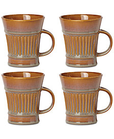 Dansk Flamestone Caramel Mugs, Set of 4