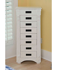 Mission White Jewelry Armoire