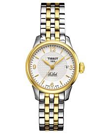 Tissot Women's Swiss Automatic T-Classic Le Locle Two-Tone PVD Stainless Steel Bracelet Watch 25.3mm