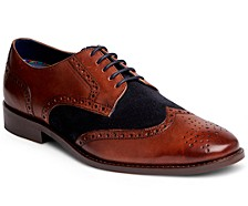 Men's Szabo Wingtip Lace-Up Leather Shoe