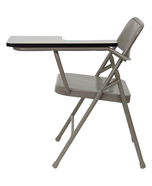 Flash Furniture Premium Steel Folding Chair With Left Handed Tablet Arm