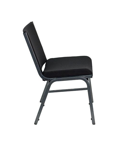 Groovy Hercules Series Big Tall 1000 Lb Rated Black Fabric Stack Chair Creativecarmelina Interior Chair Design Creativecarmelinacom