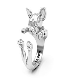 Chihuahua Hug Ring in Sterling Silver