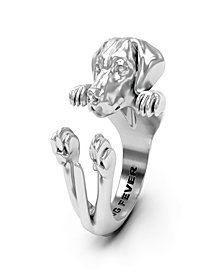 Weimaraner Hug Ring in Sterling Silver