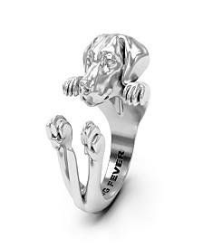Weimaraner Hug Ring in Sterling Silver