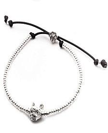 Yorkshire Terrier Head Bracelet in Sterling Silver
