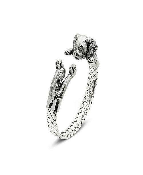 Dog Fever Cavalier King Charles Spaniel Hug Bracelet in Sterling Silver