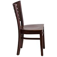 Darby Series Slat Back Walnut Wood Restaurant Chair