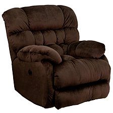 Contemporary Sharpei Microfiber Power Recliner