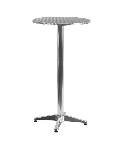 Flash Furniture 23 25 Round Aluminum