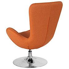 Egg Series Orange Fabric Side Reception Chair