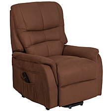 Hercules Series Brown Microfiber Remote Powered Lift Recliner
