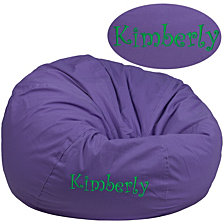 Personalized Oversized Solid Purple Bean Bag Chair