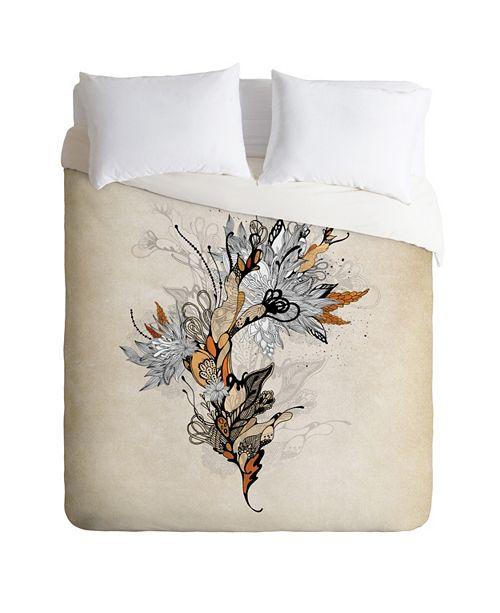 Deny Designs Iveta Abolina Floral 1 Queen Duvet Set