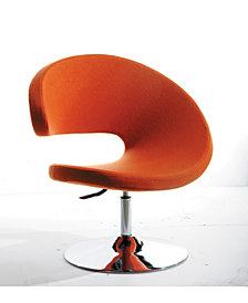 Modrest Adara Modern Fabric Lounge Chair