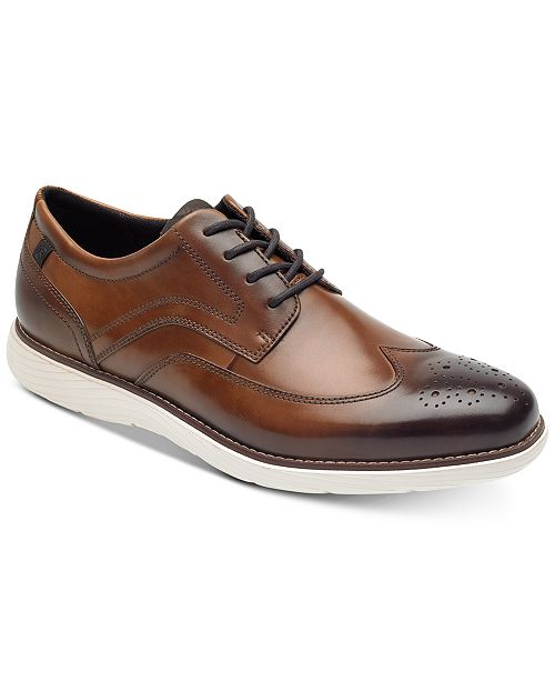 ba38c514199ac Rockport Men's Garett Leather Wingtip Oxfords & Reviews - All Men's ...