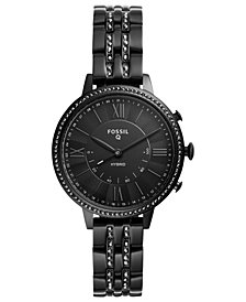 Fossil Q Women's Jacqueline Black Stainless Steel Hybrid Smart Watch 36mm